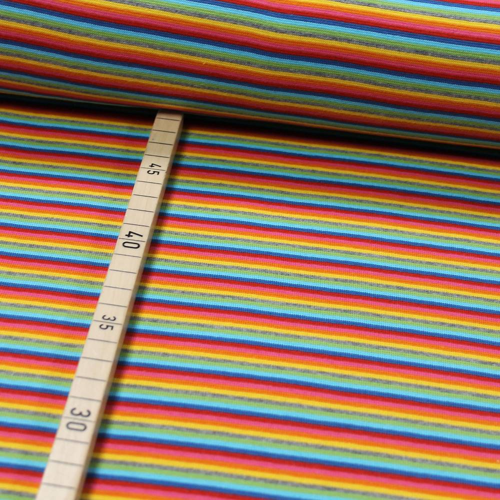 Ringelbündchen Multicolor bunt gestreift Bild 1