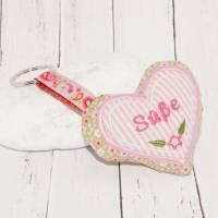 """Schlüsselanhänger  Herz rosa """"Süße"""" Bild 1"""