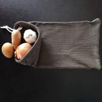 Stoffbeutel zur Aufbewahrung von Gemüse und Obst, Beutel für Kartoffeln und Zwiebeln, Baumwolle  Bild 4