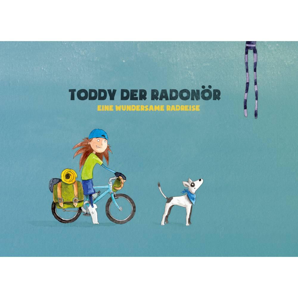 """Kinderbuch, """"Toddy der Radonör"""", ein Bilderbuch mit wunderschönen Illustrationen über eine Fahrrad-Reise Bild 1"""