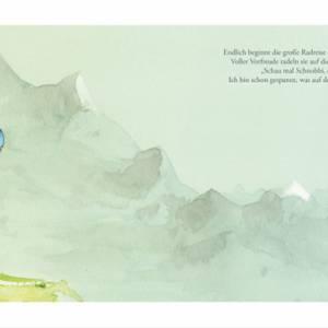 """Kinderbuch, """"Toddy der Radonör"""", ein Bilderbuch mit wunderschönen Illustrationen über eine Fahrrad-Reise Bild 2"""
