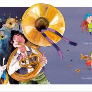 """Kinderbuch, """"Toddy der Radonör"""", ein Bilderbuch mit wunderschönen Illustrationen über eine Fahrrad-Reise Bild 3"""