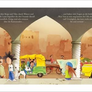 """Kinderbuch, """"Toddy der Radonör"""", ein Bilderbuch mit wunderschönen Illustrationen über eine Fahrrad-Reise Bild 5"""
