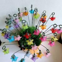 Süße kleine Blumenstecker in 11 Farben Bild 2