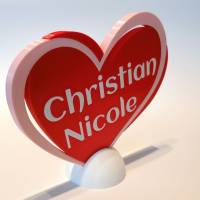 Herz Personalisiert Multicolor Geschenk Valentinstag Deko Liebe Bild 2