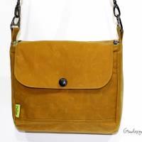 """Handtasche """"Alexia"""" aus Oilskin, curry Bild 1"""