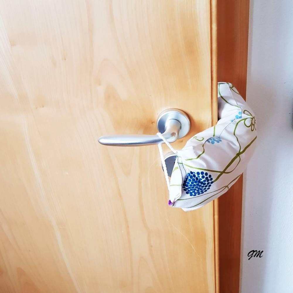 Türstopper, Klemmschutz, Türpuffer, Fensterstopper, kein Zufallen von Tür oder Fenster mehr, upcycling Bild 1