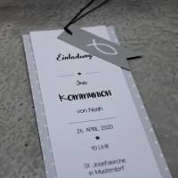 Einladungskarte Taufe Kommunion Konfirmation Bild 3
