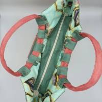 Shopper Tasche aus weichem Velours Kunstleder mit runden, weichen Griffen  Bild 4