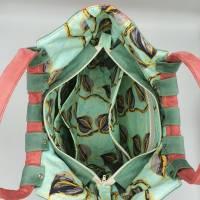 Shopper Tasche aus weichem Velours Kunstleder mit runden, weichen Griffen  Bild 5