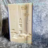 Leuchtturm auf der Insel - Moin Moin - Gefaltetes Buch Bild 1