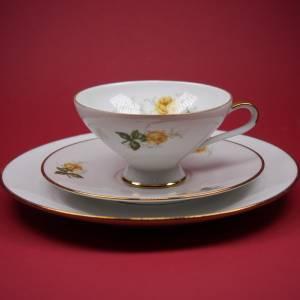 """Sammel / Kaffee - Gedeck """"Seltmann Weiden - gelbrotes Blumendekor"""" Bild 2"""