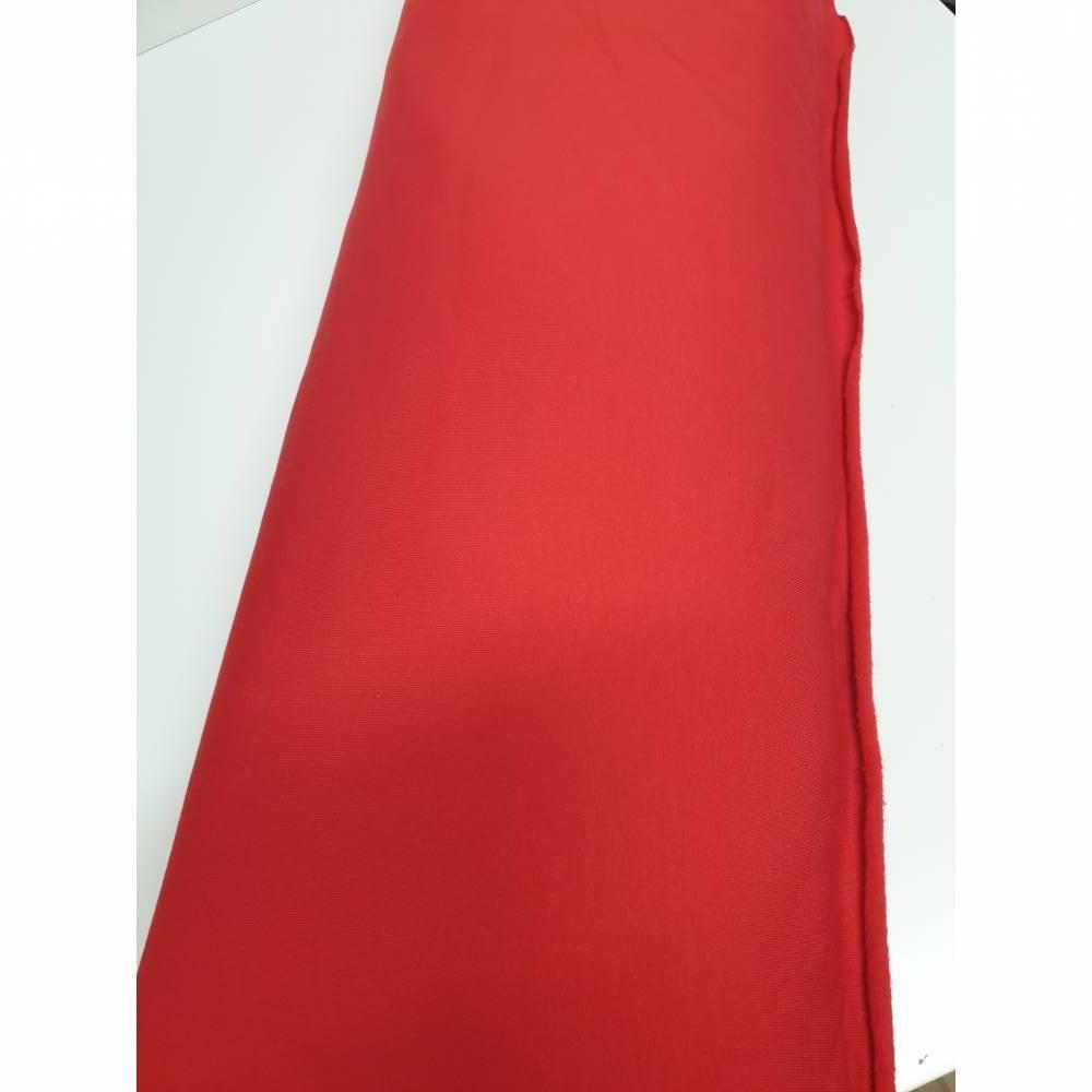 Sweatstoff Uni Rot  Bild 1