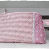 Kosmetiktasche rosa, Kitz und Wunschname Bild 2