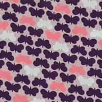 Viskose Butterflies by lucklyck design, Schmetterlinge auf altrosa - swafing Bild 3