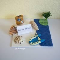 Geldgeschenk, Reise-Gutschein, Reif für die Insel, Geschenk, Geldgeschenkverpackung, Geburtstag, Urlaub-Reise Bild 2