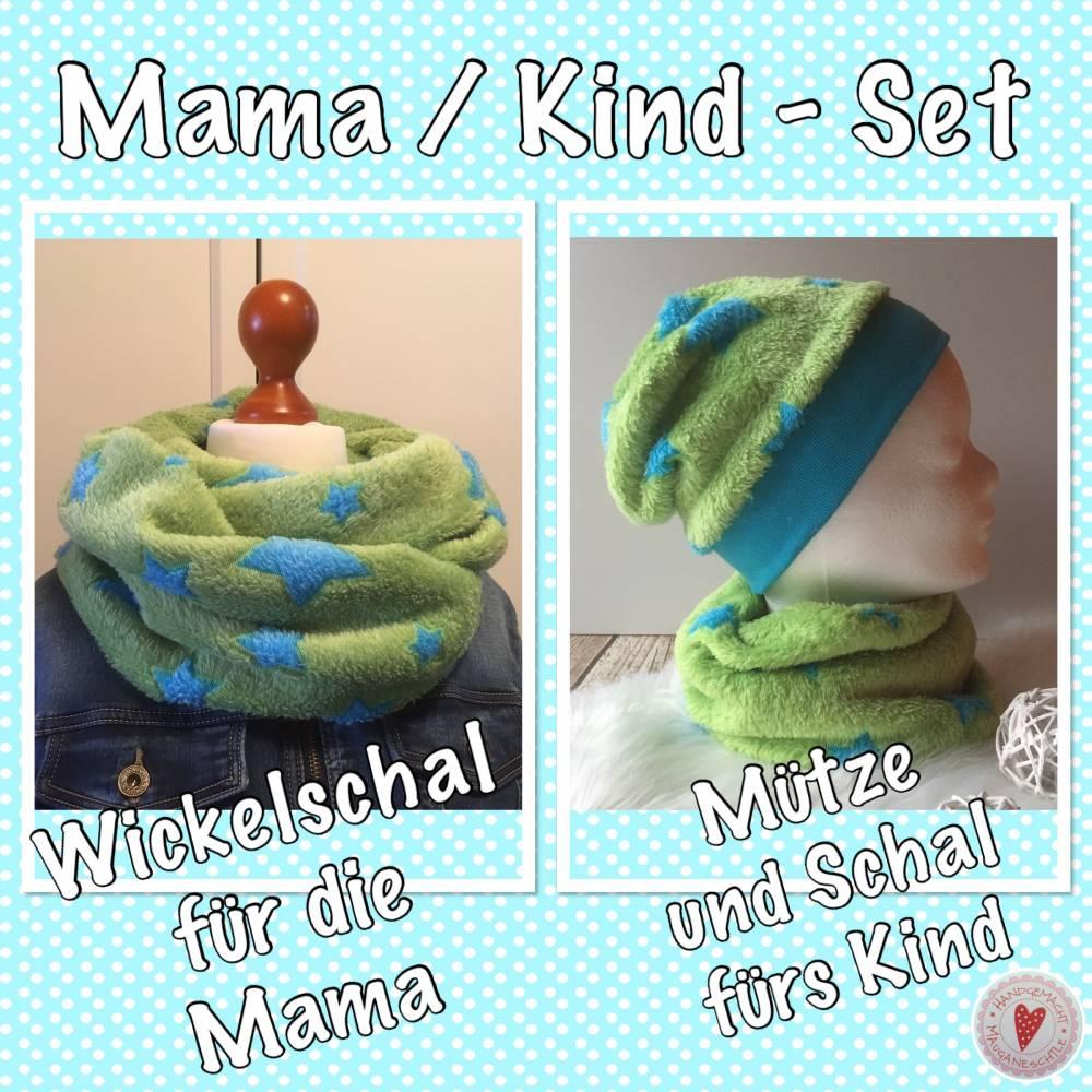 Mama - Kind- Set * Wellnessfleece * kuschelig warm Bild 1