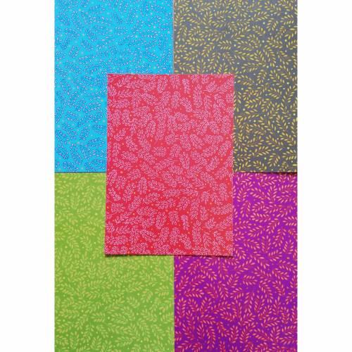 Kreativset verschiedenfarbig gemustert für 5 kleine Geschenkboxen