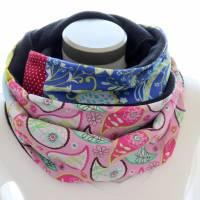 Damen Loop bunt Häschen Loopschal Schal zum Wenden Fleece Bild 2