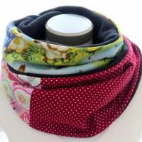 Damen Loop bunt Häschen Loopschal Schal zum Wenden Fleece Bild 3