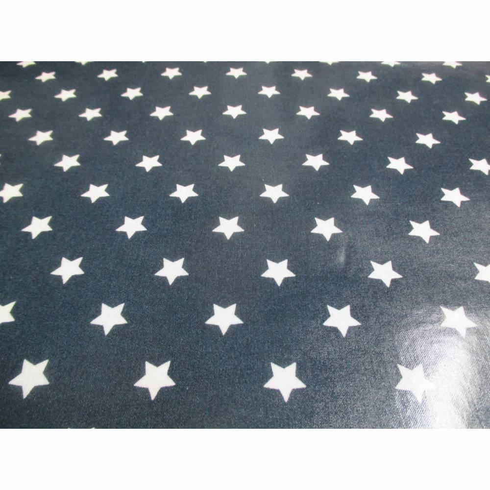 A.U Maison Wachstuch Oilcloth Star Midnight Blue Oeko-Tex Standard 100 ( 1m/20,-€) Bild 1