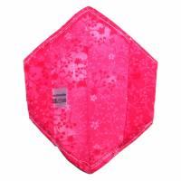 """Überzug für FFP2 Maske """"Ranken Pink"""" - einlagig - 100% Baumwolle - Waschbar - Stoffhülle - Stoffüberzug Bild 3"""