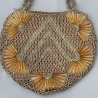 kleine Vintage Tasche mit Glasperlen Bild 2