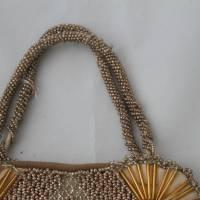 kleine Vintage Tasche mit Glasperlen Bild 3