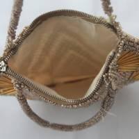 kleine Vintage Tasche mit Glasperlen Bild 6