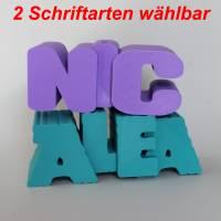 Spardose Name **1 BIS 4 BUCHSTABEN** Personalisiert Geschenk Geburtstag Geld Sparen Bild 1