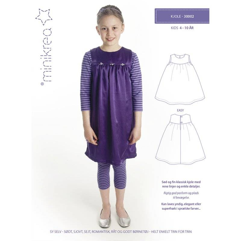 minikrea Papier-Schnittmuster Kleid (4-10 Jahre) Bild 1