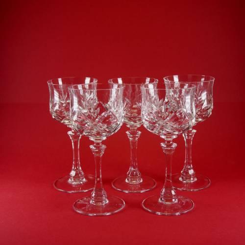 """wunderschöne 5 Weingläser aus Kristall mit schönem Design von """"Spiegelau"""""""