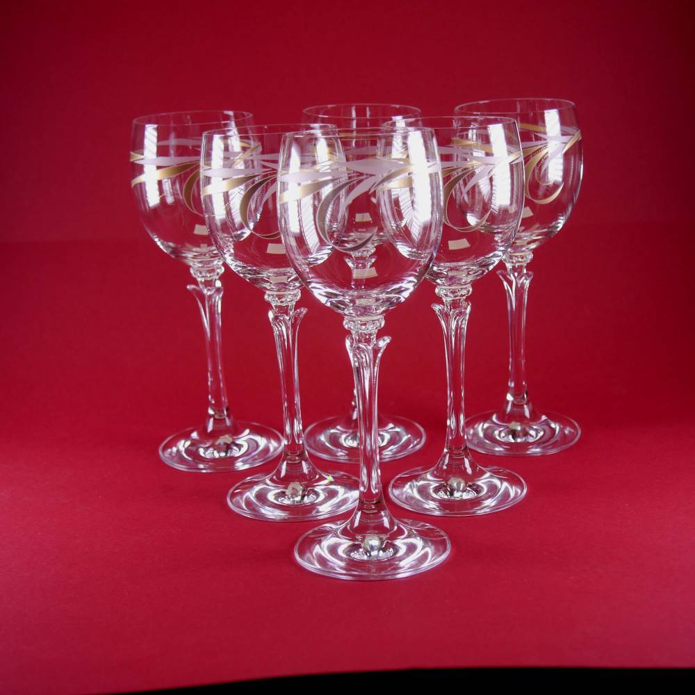 schöne 6 dekorative Design - Weingläser Bild 1