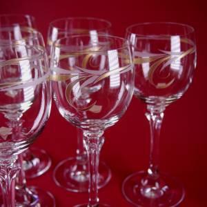 schöne 6 dekorative Design - Weingläser Bild 5