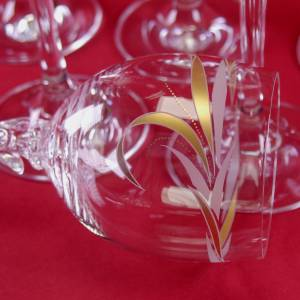 schöne 6 dekorative Design - Weingläser Bild 8