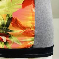 Farbenfrohes Designer Kleid _ Fashion Art Print _100% Baumwolle _Jersey T- Shirt Kurzarm sportlich Bild 8