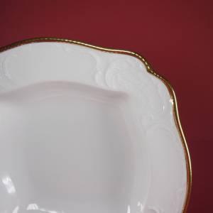 """Vintage 50er - Servierschüssel quadratisch ( 28x28 ) """"Rosenthal - Sanssouci weiss mit Goldpolierrand"""" Bild 2"""