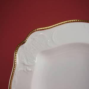 """Vintage 50er - Servierschüssel quadratisch ( 28x28 ) """"Rosenthal - Sanssouci weiss mit Goldpolierrand"""" Bild 3"""