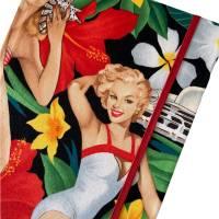 "Notizbuch ""Pin Up Dream"" Hardcover 17,5 x 23 cm (ähnlich A5) stoffbezogen Pin Up Girl Rockabilly Fan Geschenk Bild 1"