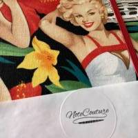 "Notizbuch ""Pin Up Dream"" Hardcover 17,5 x 23 cm (ähnlich A5) stoffbezogen Pin Up Girl Rockabilly Fan Geschenk Bild 8"