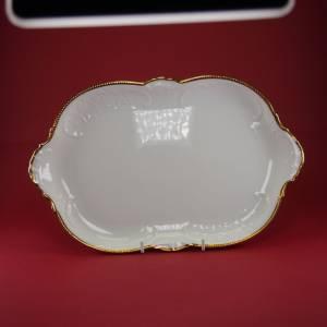 """Vintage 50er - Servierplatte rechteckig """"Rosenthal - Sanssouci weiss mit Goldpolierrand"""" Bild 1"""