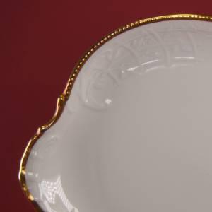 """Vintage 50er - Servierplatte rechteckig """"Rosenthal - Sanssouci weiss mit Goldpolierrand"""" Bild 4"""