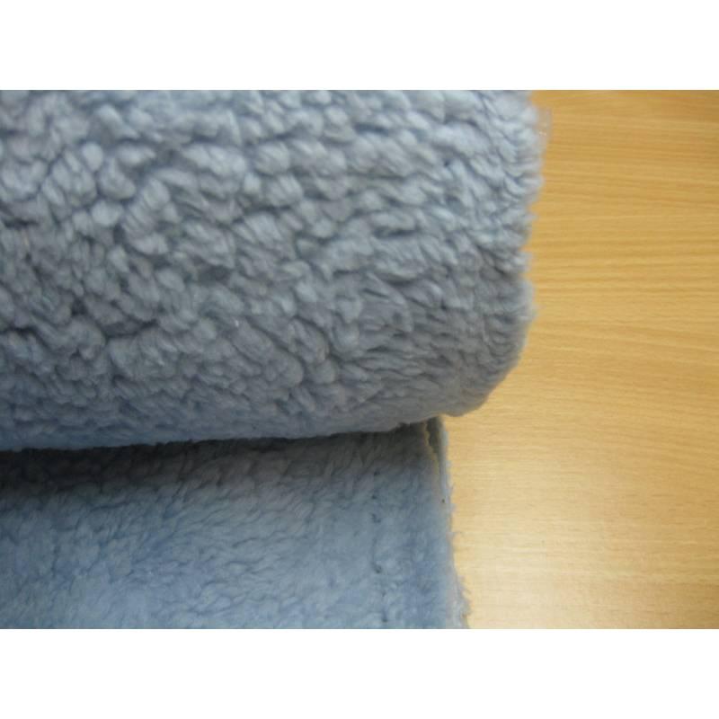 Krimmer Plüsch - Teddystoff  hellblau Oeko-Tex Standard 100(1m/17,40 €) Bild 1