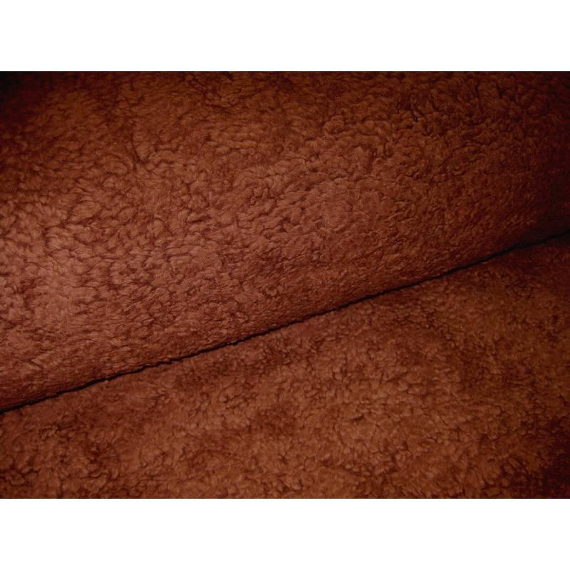 Krimmer Plüsch - Teddystoff  schoko braun Oeko-Tex Standard 100(1m/17,40 €) Bild 1