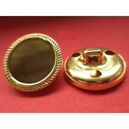 goldene Knöpfe Metall 20mm (1642) Bild 1