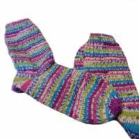 handgestrickte Socken, Größe 40 - 42, wärmende Socken, dicke Wintersocken Bild 1