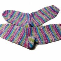 handgestrickte Socken, Größe 40 - 42, wärmende Socken, dicke Wintersocken Bild 3