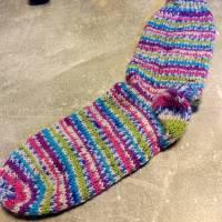 handgestrickte Socken, Größe 40 - 42, wärmende Socken, dicke Wintersocken Bild 6