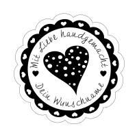 """Personalisierter Stempel mit Text: """"Mit Liebe handgemacht"""" Handmade Stempel Homemade Stempel No.HO-100002 Bild 2"""