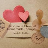 """Personalisierter Stempel mit Text: """"Mit Liebe handgemacht"""" Handmade Stempel Homemade Stempel No.HO-100002 Bild 4"""
